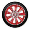 Srebrni in rdeči kkrasni pokrovi koles