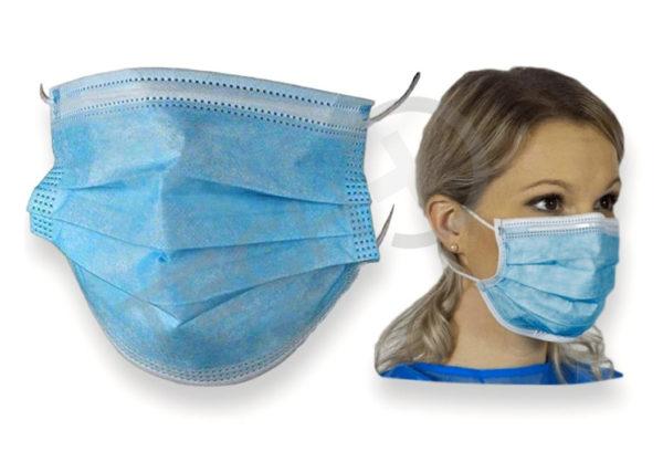 Zaščitna maska – trislojna, obrazna