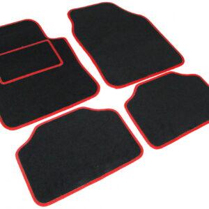 avtomobilska preproga Road tekstil UNI 2, črna-rdeča