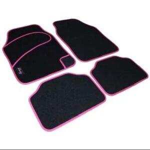Avtomobilska preproga za ženske tekstil črno-roza
